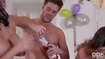 tiny sluts » Cathy Heaven, Jasmine Jae And Leigh Darby In Epic Hardcore Group Sex Orgy thumbnail