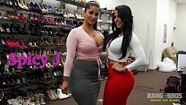 BANGBROS - Behind the Scenes with Latina Babes Spicy J and Diamond Kitty video