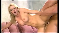 Amazing blonde slut with perfect round boobs Brittney Skye gets her twat drilled from the back by big dick