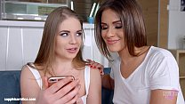 Sapphic selfie by Sapphic Erotica - sensual lesbian scene with Alessandra Jane E preview image