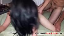 Image: bonne baise cuckold pour cette brunette ! Videos-cuckold.com