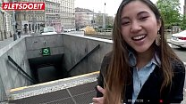 LETSDOEIT - Asian Teen Tourist Has POV Sex Abro...