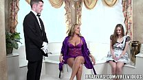 Brazzers - Sexy bathroom threesome pornhub video