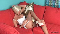 Sexy blonde chick LilyWOW in thinnest vintage n...