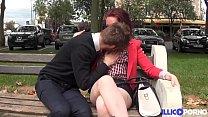 Aude, teen gourmande fête son bac avec une bonne baise Image