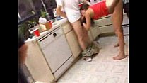 Wife gets totally wasted and gangbanged at a party image