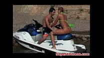Horny Blonde Fuck In The Motorboat