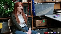 Redhead teen shop thief caught and fucked by security thumbnail