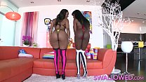 SWALLOWED Ana Foxxx and Chanell Heart blowing fat dick - 9Club.Top