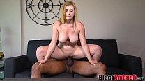 Busty babe Lindsay replaces buttplug with big b...