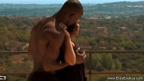 Outdoor Ebony Couple Pool Sex Outdoor anal sex was performed by ebony couple in
