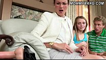 Stepmom in glasses caught teen Ava Hardy poundi...