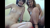 Two Hot Lesbians Cumming on a Webcam - sexyfreecamz.com