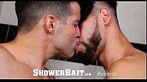 ShowerBait Warm up toy shower fuck with Casey Everett and Fx Rios