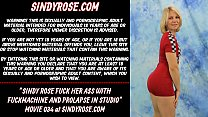 Sindy Rose fuck her ass with fuckmachine and prolapse in studio