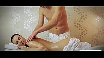 Busty woman received a relaxing massage