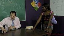 Sexy Black Student Blackmails Her Teacher - Noemie Bilas - Femdom Image