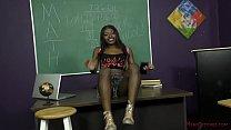 Sexy Black Student Blackmails Her Teacher - Noemie Bilas - Femdom - 69VClub.Com