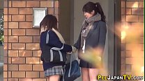 Japanese teens urinate and get spied on