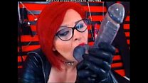 Mature Redhead With Glasses Sucking Fake Cock Thumbnail