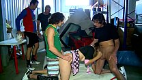 AMATEUR Geiler Gang Bang in Garage - Erotic Planet HD - AMATEUR image
