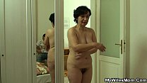He bangs very old motherinlaw from behind porn image