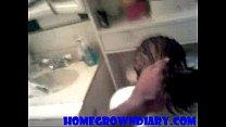 black guy fucks girlfriend in bathroom