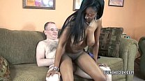 Busty slut Mercy Starr takes some dick in her black twat's Thumb
