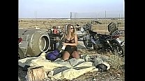 Busty slut Sweetie Pie with perfect pink nipples gets her juicy pussy fucked in desert Image