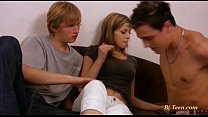 18 years young bisex threesome
