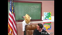 Innocent teen licks teacher's bawdy cleft and plays with big toy - download porn videos