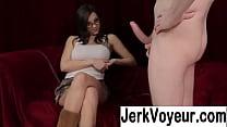 Girls watching men jerking off porn image