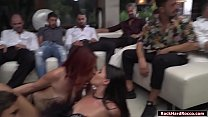 Four babes suck analed and double fucked thumbnail