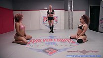 Gabriella Paltrova submits to the power of Daisy Ducati on the wrestling mat - 9Club.Top