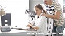 Sister gets a creampie - creampiesworld.com
