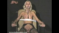 Sexy blonde Wynters extreme piercing punishments and nipple tortured slave girl