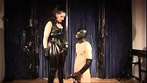 Mistress Silvia trains slave to suck cock and eat cum Vorschaubild