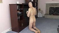 Horny Gay Nudist Cleans House