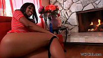 Young Anal Ebony Housewife's Thumb