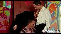 Horny gay men in scenes of fleshly anal fucking...