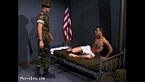 Horny sergeant gets the best of recruit's butthole
