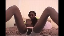 Aisha Anderson Opens Her Pantyhose So She Can Fuck Her Black Pussy