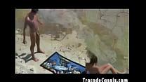 Couple make sex on a nudism beach - Amador Casal transando na praia de nudismo