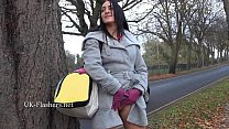 Dark amateur Chloe Lovettes public flashing and...