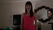 Cute young teen squirts all over the hotel  room