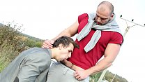 GAYWIRE - Muscular European Studs Tomm & Christian Fuck In A Grassy Field!