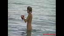 Exhibitionist wife slut on the beach - more18cam.com image