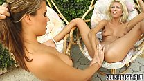 Outdoor pussy licking moves onto fisting fun preview image