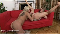 Dusia has her pussy and ass fisted by Lolly - 69VClub.Com