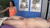 Handjob On The Massage Table